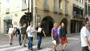 Walking through Padua